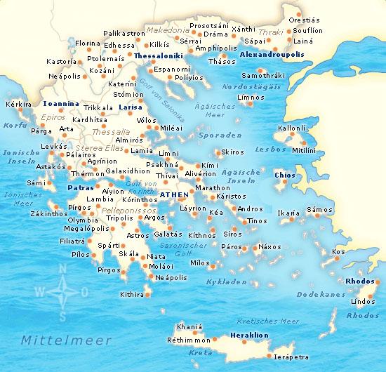 Griechenland Karte Inseln Deutsch.Griechenland Elaionas Studios Apartments Gythio