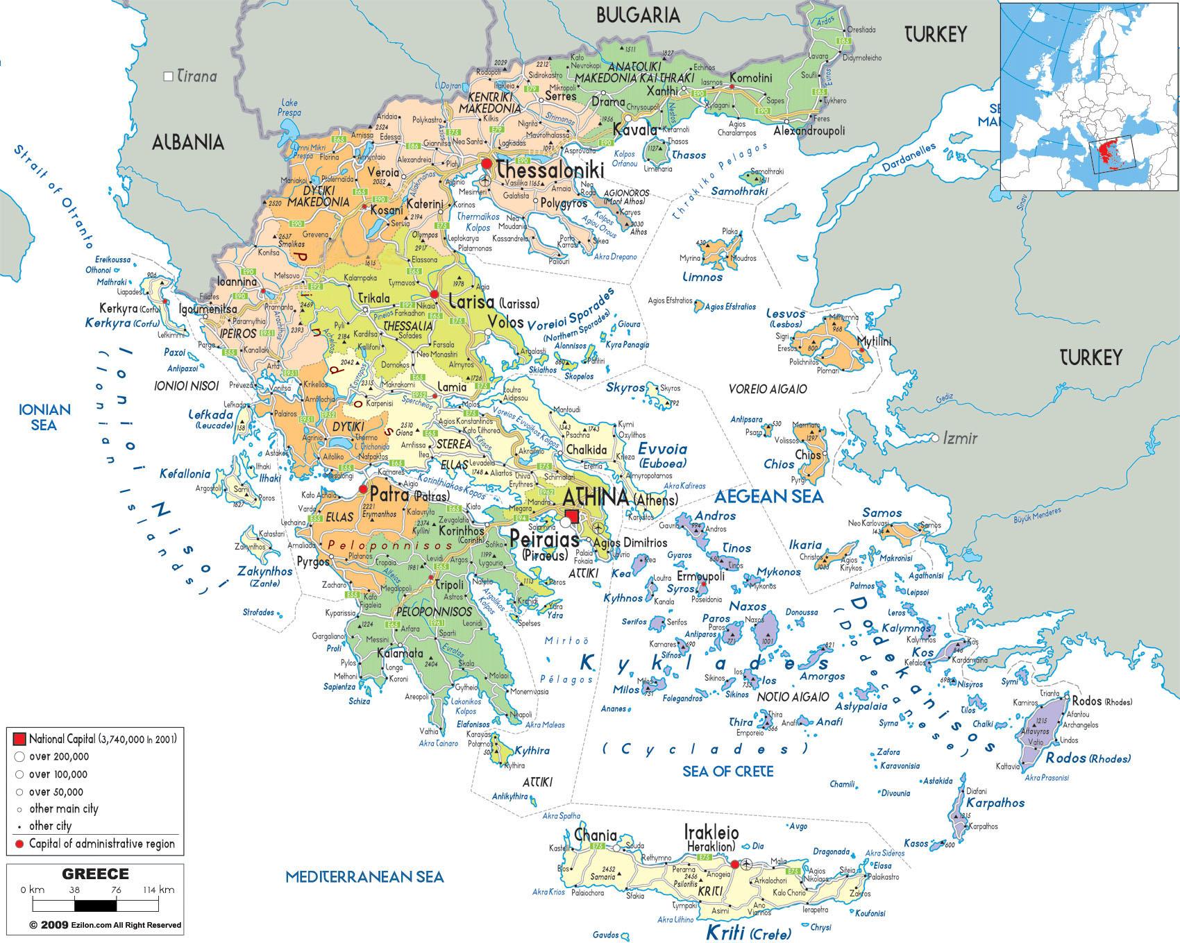 karta över grekland på svenska TURISTGUIDE – Elaionas Studios Apartments Gythio karta över grekland på svenska